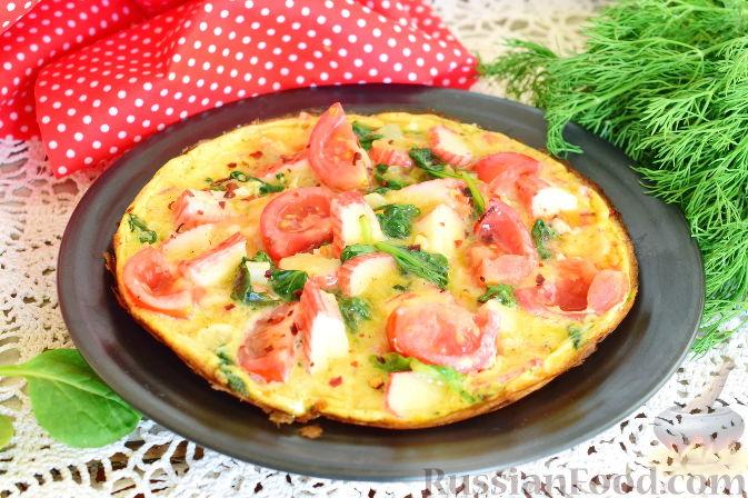 Омлет крабовые палочки помидор сыр