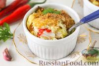 Фото к рецепту: Запеканка с крабовым мясом и луком-пореем