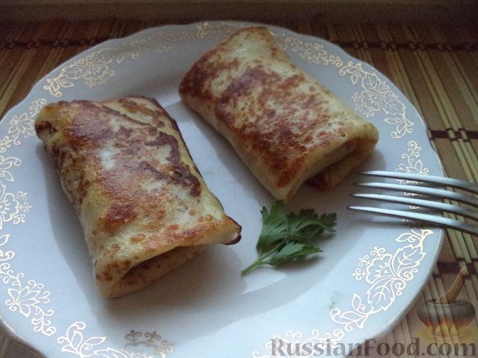 Блины фаршированные с мясом фото рецепт пошаговый рецепт с фото — pic 7