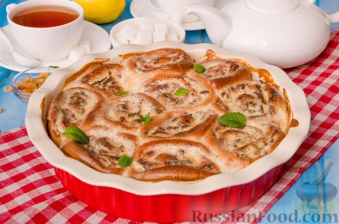 булочки с творогом в сметанной заливке рецепт с фото