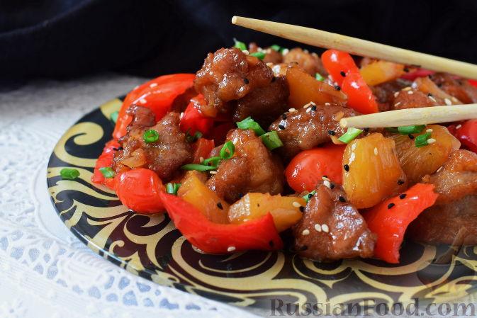 Свинина в кисло-сладком соусе с перцем рецепт