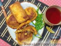 Фото к рецепту: Ленивые пирожки из хлеба