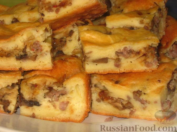 Рецепт Быстрый мясной пирог