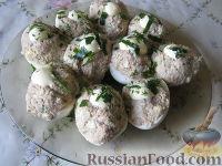 Фото к рецепту: Яйца, фаршированные сардинами
