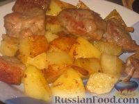 Фото к рецепту: Жаркое из свинины с картофелем