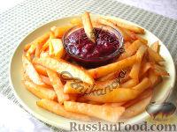 Фото к рецепту: Картофель фри в духовке