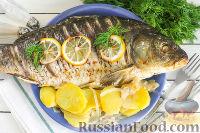 Фото к рецепту: Сазан запеченный