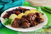 Фото к рецепту: Телятина с айвой и медом