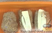 """Фото приготовления рецепта: Куриные рулетики """"Кордон Блю"""" (в духовке) - шаг №6"""