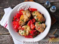 Фото к рецепту: Курица с болгарским перцем
