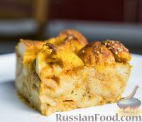 Фото к рецепту: Имбирный хлебный пудинг с тыквой