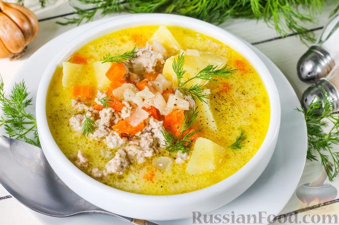 Вкусный суп с фаршем