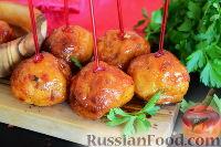 Фото к рецепту: Куриные тефтельки в глазури (в духовке)