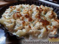 Фото к рецепту: Цветная капуста, запеченная под соусом бешамель