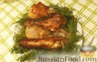 Фото к рецепту: Куриные ножки, запечённые в мультиварке