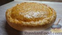 Фото к рецепту: Луковый пирог с плавлеными сырками