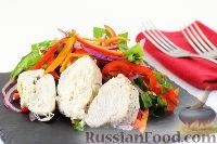 Фото к рецепту: Корейский салат с курицей и овощами
