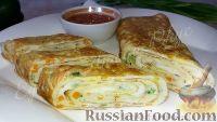 Фото приготовления рецепта: Яичный ролл (на завтрак) - шаг №5