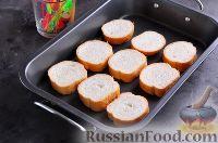 Фото приготовления рецепта: Канапе с колбасой и сыром - шаг №3