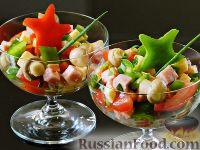Фото к рецепту: Испанский салат с ветчиной и сыром