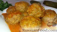 Фото к рецепту: Домашние тефтели с рисом (в духовке)