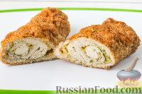 Фото приготовления рецепта: Куриный рулет с сыром и укропом - шаг №11