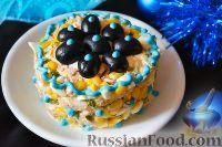 Салат с консервированной рыбой и кукурузой - рецепт пошаговый с фото