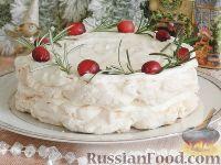 Фото к рецепту: Торт-безе с джемом и взбитыми сливками