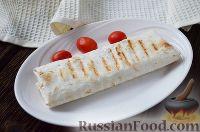Фото к рецепту: Конверты из лаваша с фаршем и фасолью
