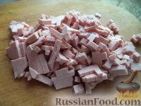 Отварной рис с кукурузой и колбасой - рецепт пошаговый с фото