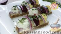 Бутерброды со свеклой и чесноком - рецепт пошаговый с фото