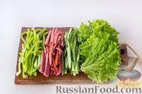 Фото приготовления рецепта: Рулет из лаваша с сыром и колбасой - шаг №2