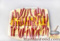Фото приготовления рецепта: Рулет из лаваша с сыром и колбасой - шаг №6