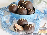 Фото к рецепту: Домашние шоколадные конфеты