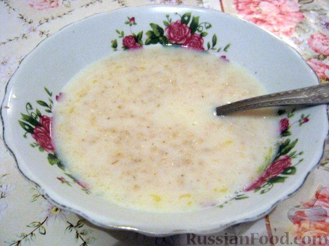 Рецепт Каша овсяная молочная