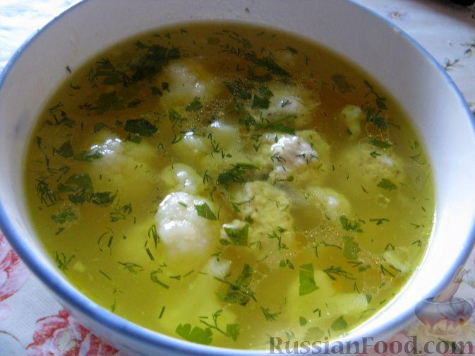 суп с цветной капустой и курицей диетический рецепт