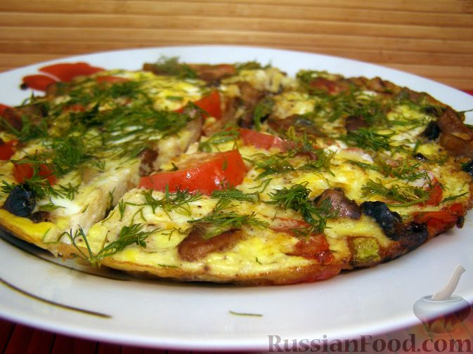 Рецепты омлетов с овощами