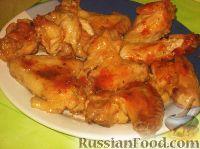Фото к рецепту: Крылышки куриные в горчичном соусе