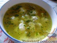 Фото к рецепту: Суп с фрикадельками и цветной капустой