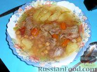 Фото к рецепту: Шурбо (суп с горохом)