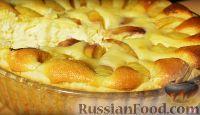 Фото к рецепту: Пирог с творогом и персиками