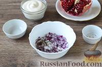 """Фото приготовления рецепта: Салат """"Новогодний сапожок"""" - шаг №3"""