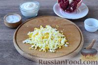 """Фото приготовления рецепта: Салат """"Новогодний сапожок"""" - шаг №6"""