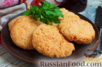 Фото к рецепту: Крабовые биточки с сыром