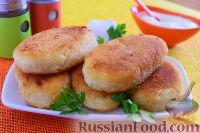 Фото к рецепту: Картофельные зразы с куриным фаршем