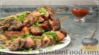 Фото к рецепту: Шашлык из свинины на шпажках, в банке (в духовке)