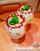Фото к рецепту: Зефирный десерт с фруктами
