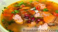 Фото к рецепту: Суп с курицей, овощами и фасолью