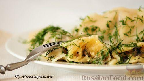 Рецепт Вареники с картошкой и шампиньонами