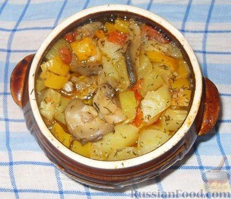 Приготовление мяса в горшочке